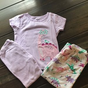 Carter's Toddler Girl Dinosaur Pajama Set